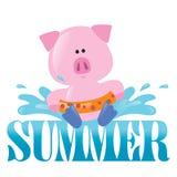 Summer Splash Graphic 2 Stock Photo