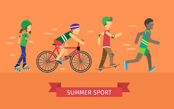 Summer Sport Banner Stock Photo