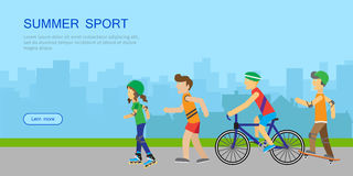 Summer Sport Banner Royalty Free Stock Photo
