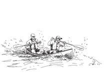 Summer sport canoe Stock Image