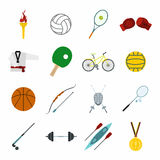 Summer sport flat icons set Royalty Free Stock Images