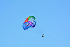 A summer sport - parasailing and boat Royalty Free Stock Image