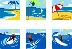Summer Sports. Icons of the Summer sports and recreation Stock Image