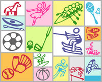 Summer sports royalty free stock images