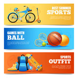 Summer Sports Banners Set Royalty Free Stock Photos