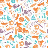 Summer sports and equipment color pattern eps10 Royalty Free Stock Photos
