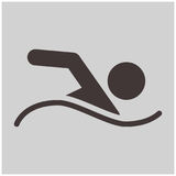 Summer sports icon - Swimming crawl icon. Summer sports icons - swimming crawl icon for web optimized Royalty Free Stock Photography