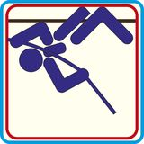 Summer sports icons - pole vault icons. vector. Summer sports icons - pole vault icons Stock Illustration