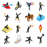 Summer sports isometric 3d icons set Stock Image