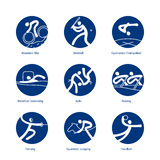 Summer Sports pictograms Royalty Free Stock Image