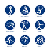 Summer Sports pictograms Royalty Free Stock Photography