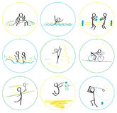 Summer sports. Set of abstract  illustration - summer sports Stock Images