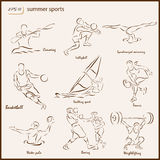 The Summer Sports Royalty Free Stock Photos