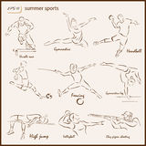 The Summer Sports Royalty Free Stock Photo