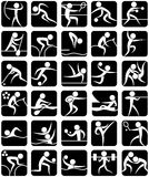 Summer Sports Symbols. Set of 30 pictograms of the Olympic summer sports Royalty Free Stock Photo