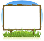 Summer Or Spring Country Wood Billboard Royalty Free Stock Photos