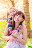 Summer spring family Stock Photography