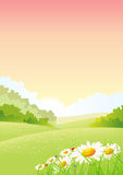 Summer Or Spring Morning Seasons Poster Stock Image
