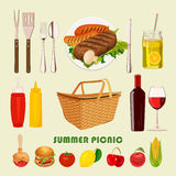 Summer, spring picnic poster Royalty Free Stock Photos