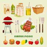Summer, spring picnic poster Stock Images