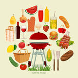Summer, spring picnic poster Stock Image