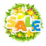 Summer And Spring Sale Template Stock Images