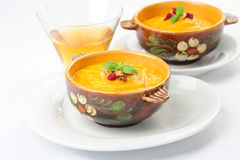 Summer Squash Soup Stock Image