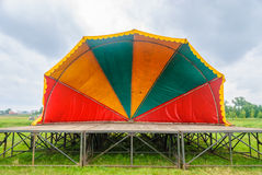 Summer stage. For performances and concerts Stock Images