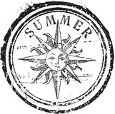 Summer stamp. Abstract grunge rubber stamp with the text summer Stock Photos