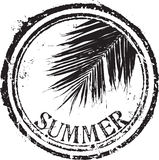 Summer stamp. Abstract grunge rubber stamp with the text summer Stock Image