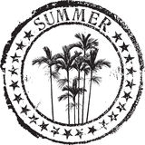 Summer stamp. Abstract grunge rubber stamp with the text summer Royalty Free Stock Image