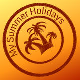 Summer stamp Stock Photo