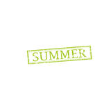 SUMMER stamp sign. SUMMER stamp vector grunge design with scratches. Color is easily changed Stock Photos