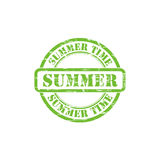 SUMMER stamp sign. SUMMER stamp vector grunge design with scratches. Color is easily changed Royalty Free Stock Photography