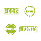 SUMMER stamp sign. SUMMER stamp vector grunge design with scratches. Color is easily changed Royalty Free Stock Images