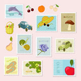 Summer stamp Stock Photos