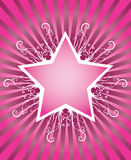 Summer star design. In disco style Royalty Free Stock Image