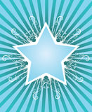 Summer star design. With place for text Royalty Free Stock Image