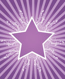 Summer star design. With place for text Stock Illustration