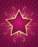 Summer star design. In retro style Vector Illustration