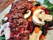 Summer Steak Salad Royalty Free Stock Images