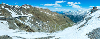 Summer Stelvio pass (Italy) Stock Photo