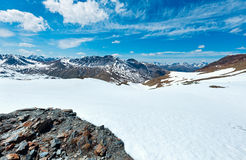 Summer Stelvio pass (Italy) Royalty Free Stock Photography