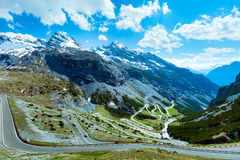 Summer Stelvio pass (Italy) Royalty Free Stock Photo