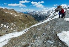 Summer Stelvio pass (Italy) Royalty Free Stock Photos