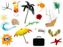 Summer stickers Stock Photography