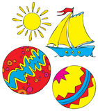 Summer stickers Stock Images