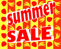 Summer stickers with sale messages Stock Photos