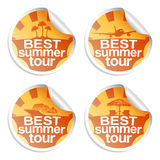 Summer stickers Royalty Free Stock Images