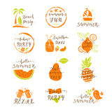 Summer stickers set Royalty Free Stock Photography